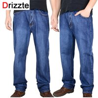 big mens stretch jeans - Drizzte Brand Men Plus Big Size Pants Mens High Stretch Big and Tall Large Trouser Jeans for Men