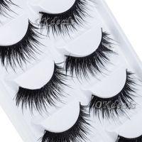 Wholesale 5 Pairs Black Natural Thick False Eyelash Soft Long Handmade Makeup Fake Eye Lashes Extension