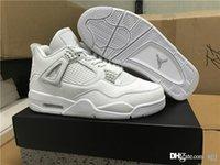 Air RR Jordan 4 Retro IV dinero puro Jordans 4s dinero puro zapatos de baloncesto con tamaño de la caja original 8-13