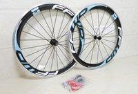 Wholesale Light Blue FFWD F6R mm road bike carbon wheels with rim width mm K UD K Kinds of Hubs