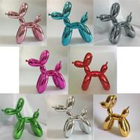 balloon animals dog - Jeff Koons Balloon Dog Pop Art Resin Balloon Dog Figurine Statue Pop Art Crafts Ornament Resin Craft XMAS Gift Creative Gift
