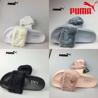 bag loop - 2017 Come With Original Box Dust Bag Leadcat Fenty Rihanna Slippers Women shoes men Indoor Sandals Girls Fashion Scuffs Slide Puma size36