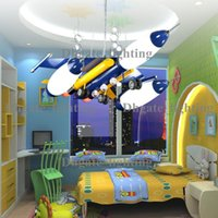 airplane pendant light - European candle lights crystal chandelier Children s cartoon airplane lamp