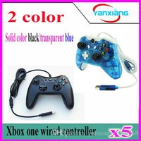 5pcs Black Game Controller Pour Microsoft Xbox One Wired Controller Dual Vibration Joystick Gamepad pour Xbox One YX-one-02