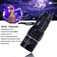 Wholesale New Hunting Nitrogen Monocular zoom Telescope x52 HD M Travel High Power Magnification Quality binoculars Bird Watching