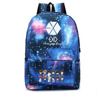 Wholesale 2016 New Exo School Bag Male and Female Students Bag Star Backpack Cute Cartoon Schoolbag Satchel Starry Sky
