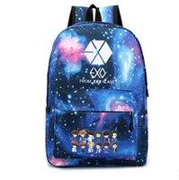 Wholesale 2016 New Exo School Bag Male and Female Students Bag Star Backpack Cute Cartoon Schoolbag Satchel Starry Sky