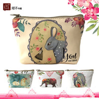 Wholesale New Women Wallet Canvas Coin Purse Travel Organizer Color Floral Women Storage Bag Day Clutch Card Holders Women Purse H21