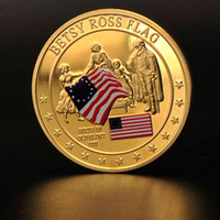 betsy ross flag - American Stars Stripes USA Betsy Ross Flag History K Gold Plated Coin Token