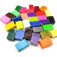 Wholesale 32 Color Polymer Clay Blocks Children Kids Indoor DIY Handmade Modeling Toy Soft Fimo Playdough Educational Toy With Tools B