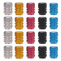 auto wheel trucks - 4 Hexagonal Tyre Wheel Ventil Valve Cap For Auto Car Truck New Colorful Creative Design