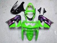 al por mayor zx9r púrpura-Juego de carrocería de plástico ABS para Kawasaki ZX-9R 2000 2001 ZX9R 00 01 Carenado de mercado de recambio púrpura