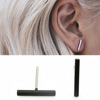Wholesale 2016 Europe and America simple long earrings fashion pure copper a shaped earrings