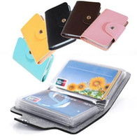 Wholesale business card holder Cards Pu Leather Credit ID Business Card Holder Pocket Wallet Case DHL