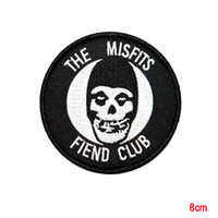 band mascots - The Misfits Fiend Club Ghost Horror Punk Band Mascot Iron On Applique Patch