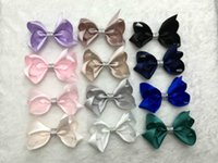 Wholesale baby inch solid hair bows clips Boutique grosgrain Satin Barrettes hairbows kids girl HC B