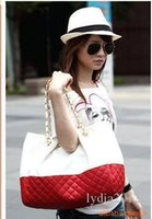 Wholesale 2017 NEW Arrival Hot Sale Fashion Ling Plaid Stripe Chain Women PU Genuine Leather Large Vintage Handbag Designer Retro Shoulder Bags