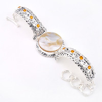 Wholesale Luckyshine Holiday Gift Shiny Crystal Shell Gem Sterling Silver Plated Bracelet Bangles Russia Bracelets