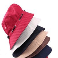 Wholesale Stingy Brim Caps Fsherman Cap Bucket Hats for Women And Men Design Hat Sun Hat Sports Caps Folding Summer Hat DHL Free