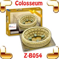 ancient roman gifts - New Year Gift Roman Colosseum D Puzzle Arena Puzzle History Building Model Sports Arena DIY Constrution Collection Ancient Toys
