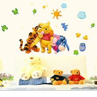 Wholesale 33 cm New Arrival Winnie The Pooh Cartoon Wall Stickers Children s Bedroom Nursery Baby Creative Poster