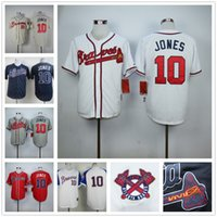Wholesale 2016 Mens Chipper Jones Jersey Cheap Braves Jones High Quality Baseball Jersey Stitched Jerseys Beige Blue Gray Red White