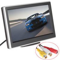 2 voies Entrée vidéo 5 pouces TFT LCD 480 x 272 Définition numérique panneau couleur moniteur de voiture arrière pour caméra de recul