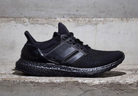 Wholesale Children Ultra Boost All White Black Men s Athletic Shoes boy s Mens Ultra Boost Triple Black Sports Running Shoes size eur36