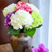 artificial decorative flowers - Artificial Hydrangea Flower Fake Silk Single Hydrangeas Colors for Wedding Centerpieces Home Party Decorative Flowers