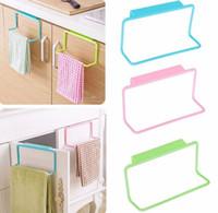 Wholesale Kitchen Cupboard Door Back Style Single Bar Towel Rack Plastic Towel Racks Rag Hanging Holder