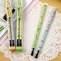 Wholesale Cute Kawaii Flower Print Aihao mm Blue Black Ink Gel Ink Pen Refills Office Accessories School Supplies Stationery