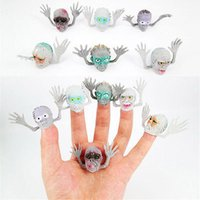 Wholesale PVC Halloween Zombie Finger Puppets Toy Action Finger Puppets Toys Set