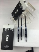 Wholesale KYLIE IN Waterproof Eyebrow Pencil Double ended with Brush Eyebrows Pencil KYLIE Jenner VS Kylie Eyebrow Cream