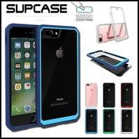 оптовых iphone 6 bumper-Supcase Unicorn Beetle Hybrid Colorful Bumper Clear Чехол для ПК с крышкой для ПК 7 6 6S Plus Samsung S6 Edge Plus Примечание 5 с розничной коробкой