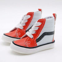 Wholesale White Red Canvas Shoes Sneaker VANS For quot CM TALL BJD MSD AOD AS DOLL G W