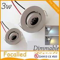 Wholesale White Dimmable W mini led downlight led cabinet light led ceiling lamp lm AC110 V Drivers high color angle CE ROHS