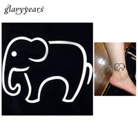 Wholesale pc Lovely Cartoon Elephant Pattern Waterproof Tattoo Stencil Woman Ankle Body Art Small Henna Indian Tattoo Sticker Stencil G20
