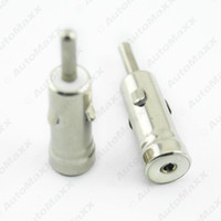 Wholesale FEELDO Car AM FM Radio Male ISO Plug to Din Aerial Antenna Plug Adapter Connectors