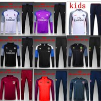 atletico madrid real - 16 real madrid Tracksuits top quality Training suit BENZEMA JAMES BALE kids juve Atletico Madrid Chelsea football Tracksuits Real Madrid