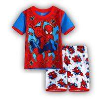 Wholesale New boy s t shirt Spiderman cotton short sleeved t shirt printing children s cartoon gray kids boys child s clothes