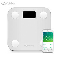Wholesale New YUNMAI Mini smart weighing scale support Android4 IOS7 Bluetooth Losing Weight Digital Scale Body Fat Scale