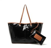 american west bags - Hot good quality nine west black patchwork brown PU composite tote bag child mother shoulder bag mother son bags