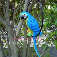 Wholesale Hottest sale Home Decoration Bionic Parrot Resin Handicraft Best Ornaments For Part And House Garden Decor