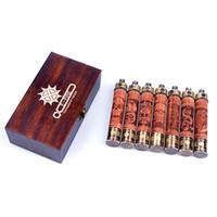 al por mayor x incendios e cig-Venta al por mayor-Nuevo X Fire 2 kits de madera E-cigarrillo E tubo E cigarrillo electrónico Kits Ego vv Mod Vaporizador Pen Madera Efire batería