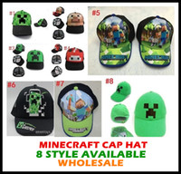 Wholesale 10pcs drop ship styles Minecraft ball cap JJ Monster Creeper Caps Hats Baseball Caps Adjustable Hat boy cartoon Hats