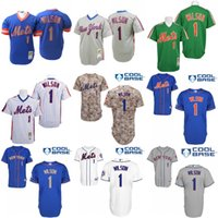 authentic wilson jerseys - Throwback Mookie Wilson Authentic Jersey Men s Mitchell And Ness MLB New York Mets baseball jersey Stitched S XL