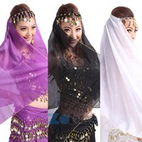 beauty belly dance - Beauty Makeup Chic Colorful Scarf Veil Dancing Headpiece Belly Dance Face Mantilla Head Headband