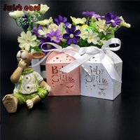 bamboo stroller - Laser Cut Paper Candy Sugar Box Baby Shower Gifts Baby Stroller Chocolate Packaging Personalized Souvenirs For Girls