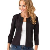 american apparel blazer - American Apparel Ladies Sleeve Short Blazer Suit Cardigan Women Basic Jacket Coat Slim Jacket Leisure blazer feminino