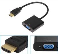 audio video supply - New HDMI to VGA Data Cable with Audio Cable Video Converter Adapter and Power Supply USB Interface For HDCP Xbox PS3 PC360 DHL